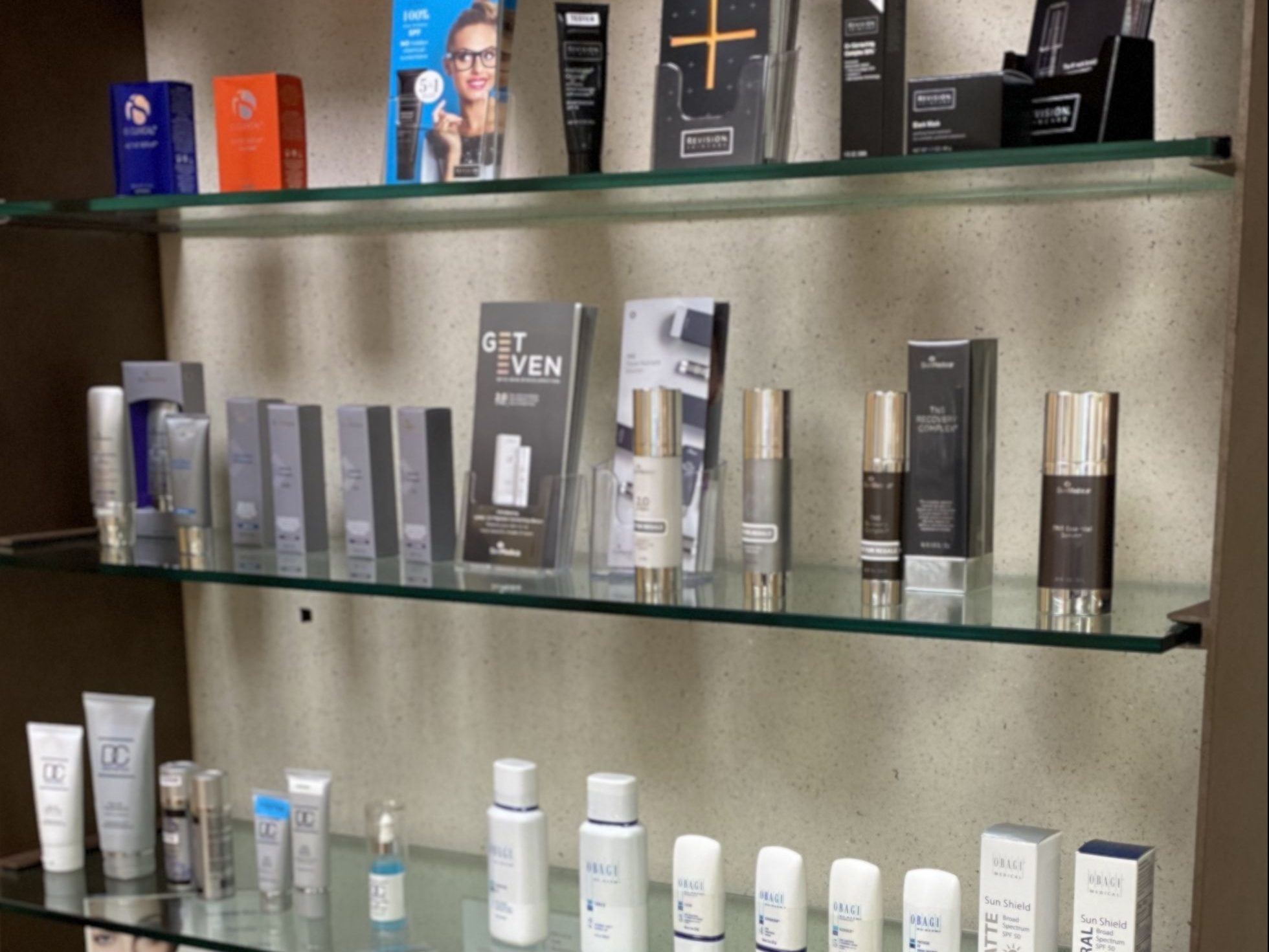 craig r dufresne md facs skincare products display